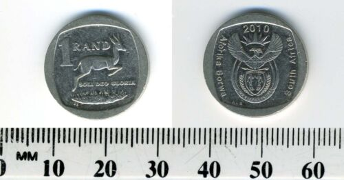 Springbok and value South Africa 2010-1 Rand Nickel Plated Copper Coin