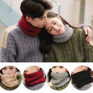6d72dbe0473 Women Winter Warm Infinity Cable Knitted Neck Cowl Collar Thickness ...