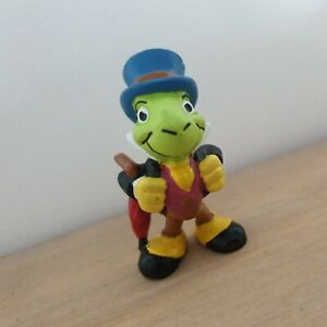 VINTAGE Pinocchio Jiminy Cricket Figura Disney Bullyland Giocattolo Figura cake topper