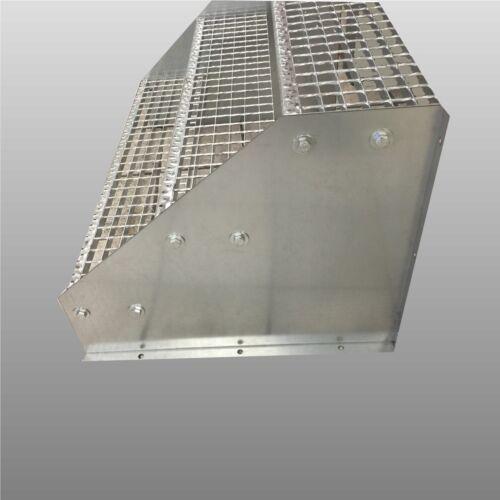 3-stufige Standtreppe freistehend Stahltreppe Breite 120cm Höhe 63cm verzinkt