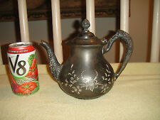 Antique Waldorf Silver Plate Co. Victorian Teapot-Floral Etched Designs-1211