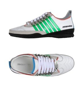 NWB Dsquared2 Men's Leather White/Green