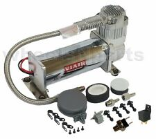Single Viair 444C Air Compressor Ride Kit 200psi Off Switch & Relay Included