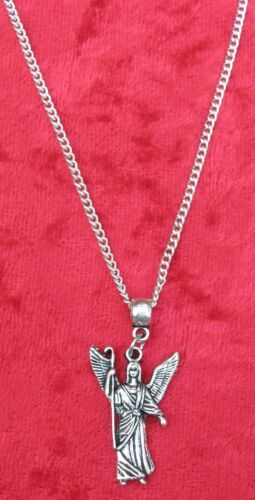"""Archangel Rafael Pendant Necklace 18/"""" or 24 Inch Saint Raphael Angel Rāfāʾēl"""