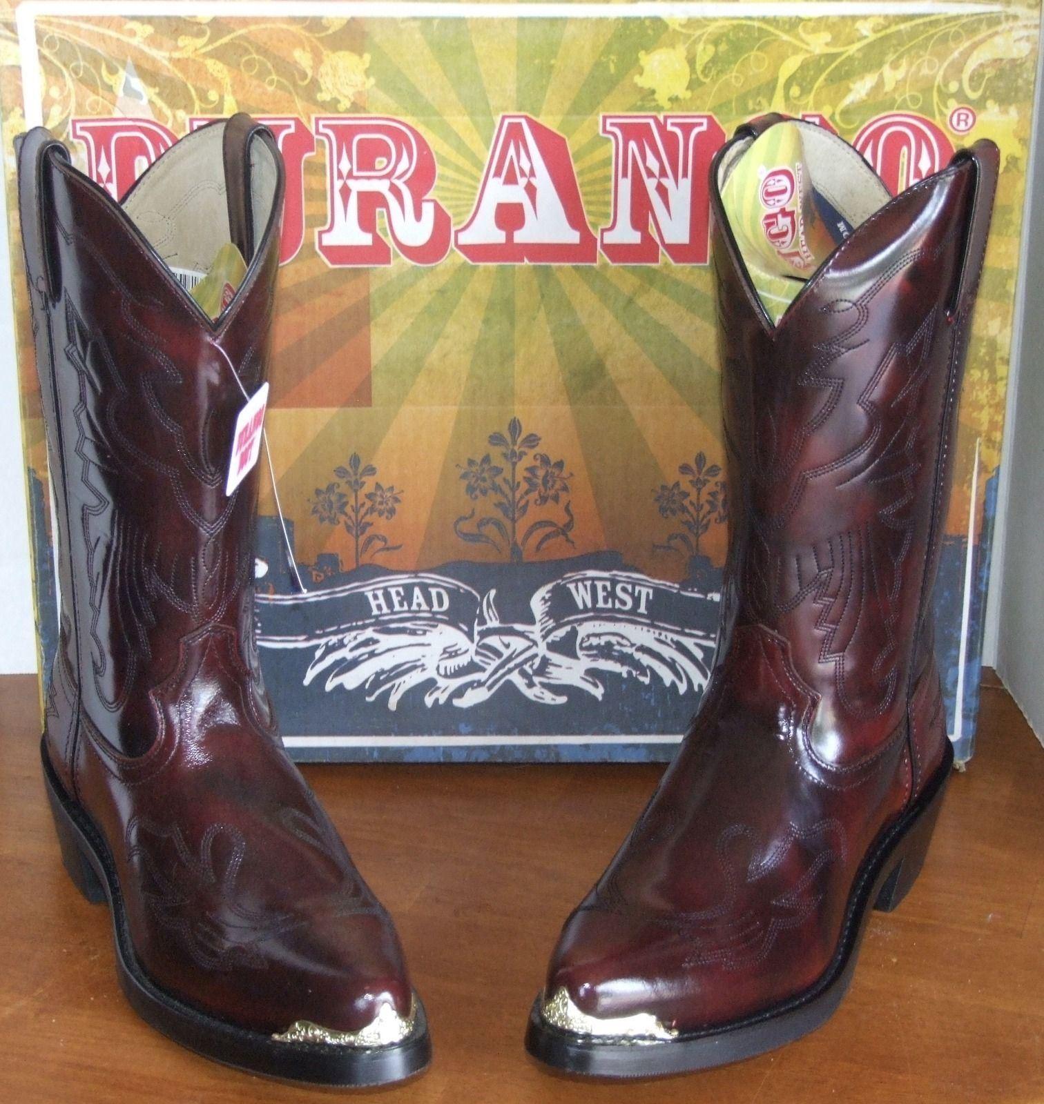 Durango Negro o Cereza Negra 11  botas de vaquero occidental de cuero