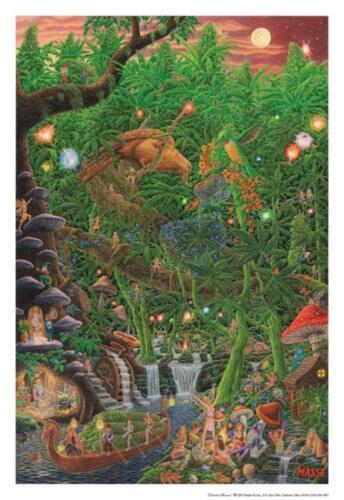 MASSE 713 CELESTIAL HARVEST 22x32 WEED ART POSTER