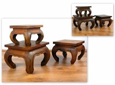 Holztisch Nachttisch Opium Tisch Holz Braun in