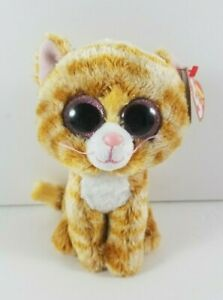 New-with-Tag-Ty-Beanie-Boo-Boos-TABITHA-the-Cat-6-034-Pink-Sparkle-Eyes