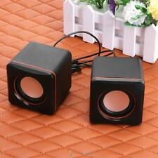 USB 2.0 Square Style Portable Mini Audio Speaker Subwoofer for Phone PC Computer