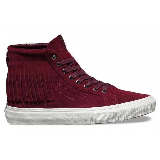 VANS Sk8 Hi Moc (Suede) Port Royale/Blanc Skate Shoes WOMEN'S SIZE 6.5