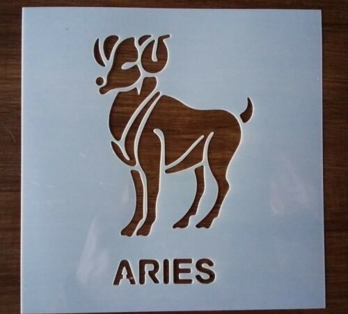 Aries Star Sign pochoir 150 mm x 150 mm