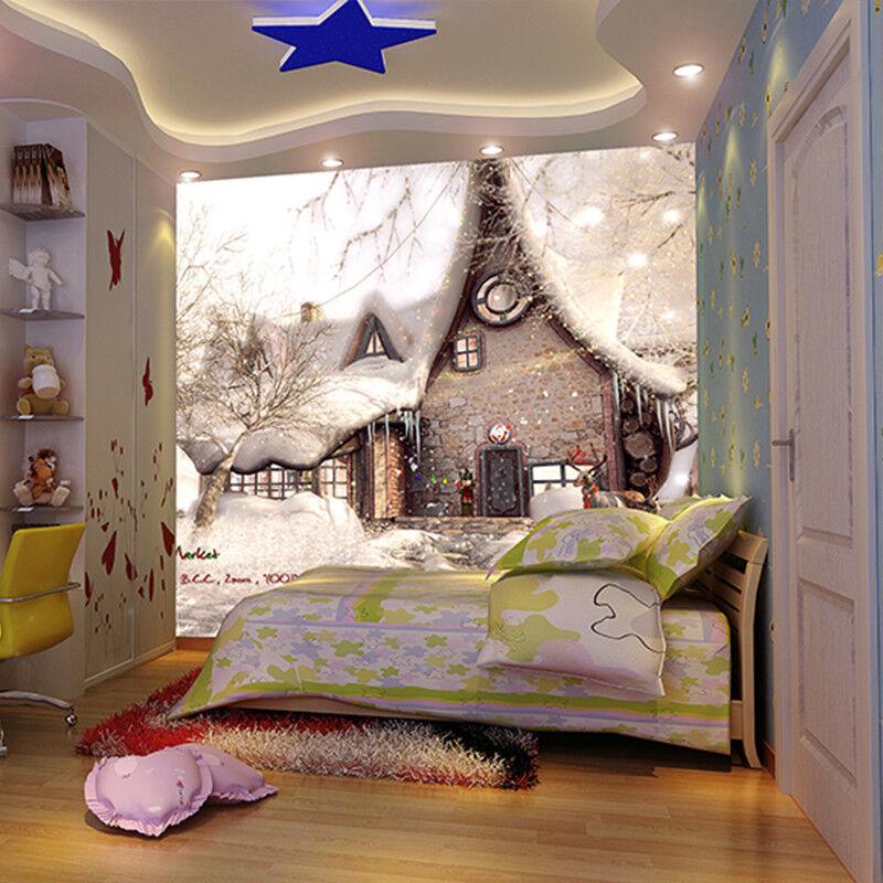 3D Weihnachten Schneehütte 97 97 97 Tapete Wandgemälde Tapete Tapeten Bild Familie DE | Schönes Aussehen  | Verkauf Online-Shop  |  f0794f