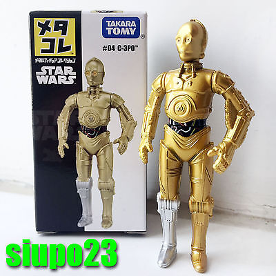 Star Wars C-3 PO Mini Metal Action Figure by Takara Tomy New