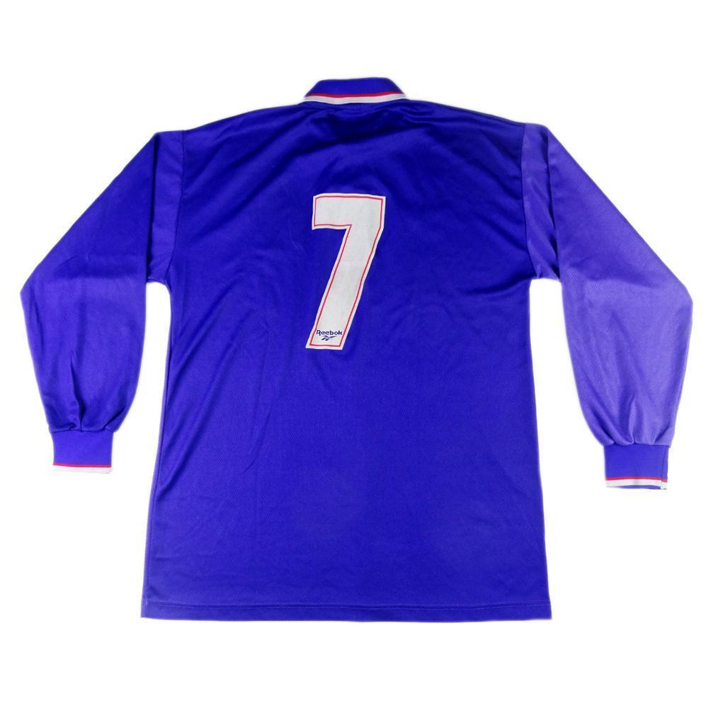 1995-96 Fiorentina Maglia Home Match Worn  7 nero XL   SHIRT MAILLOT TRIKOT