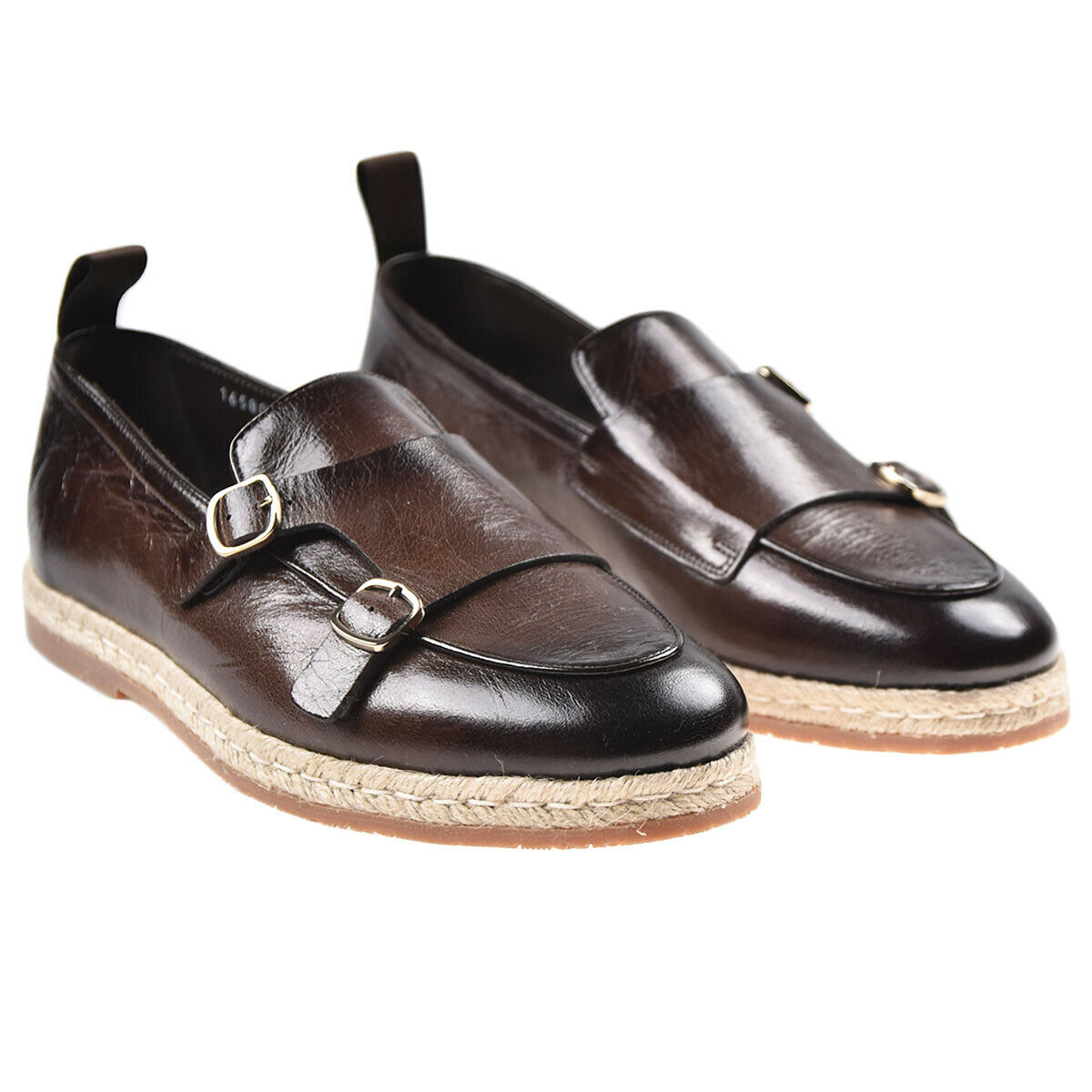 Nuevo SANTONI Mocasines zapatos 100% Cuero Tamaño 9.5 nos 42.5 EU 19SAN7