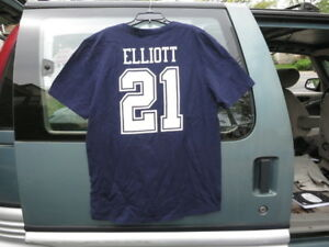 new york 8aa52 5eeff NWT Authentic DALLAS COWBOYS ZEKE ELLIOTT Name and # T shirt ...