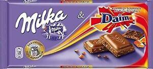 3-x-100g-Milka-Daim-Chocolate-bars-NEW-amp-fresh-free-shipping-from-Germany