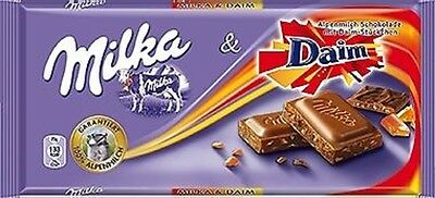 3 x 100g Milka Daim Chocolate bars NEW & fresh # free shipping from Germany