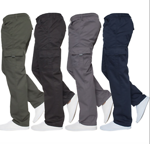 Mens-Military-Combat-Trousers-Army-Cargo-Fleece-Lined-Chinos-Casual-Work-Pants