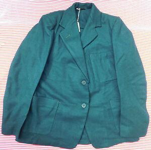 """Original Vintage Filles Vert Blazer Bukta 1950 S 1960 S École Uniforme Enfants Vêtements 32""""-afficher Le Titre D'origine"""