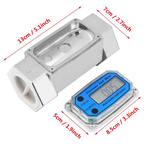 Turbina Digital Medidor de flujo de combustible diesel Medidor de flujo de engranajes Oval 1.5 pulgadas 120L//Min dh