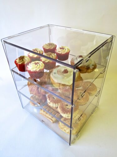 3 Sizes /& 4 Options Display Cases Ideal For Cakes Doughnuts Pastries etc