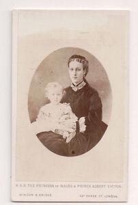 Vintage-CDV-Princess-Alexandra-of-Denmark-Queen-of-England-amp-Prince-Eddy