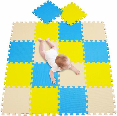 30Pieces Interlocking Eva Foam Mat Soft Floor Tiles Play Kids Baby Mats Gym Home