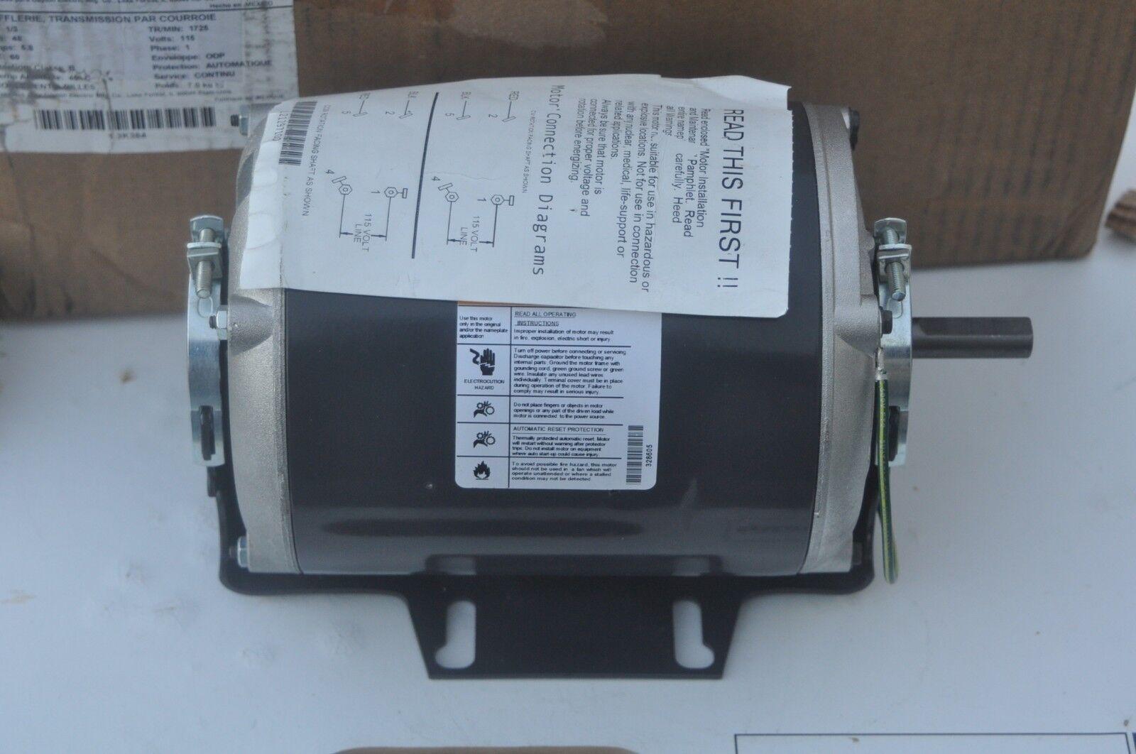 Dayton 3K384BG Belt Drive and Blower Motor 115v 1/3hp on