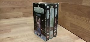 RARE-Boxset-3-Tapes-MTV-CELEBRITY-DEATH-MATCH-WWF-WWE-VHS-Video-VCR