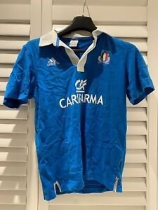 Adidas Italia Rugby Homme Jersey-Taille S