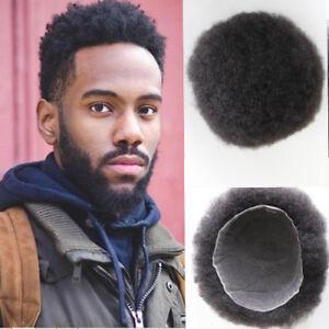 Afro Toupee for Black Men or Women Afro Kinky Curly Hair Toupee ... 4e8b4601c