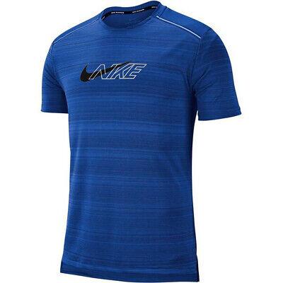 NIKE Herren DRI FIT Sport Fitness Running Laufshirt Miler T-Shirt BV5397 Blau