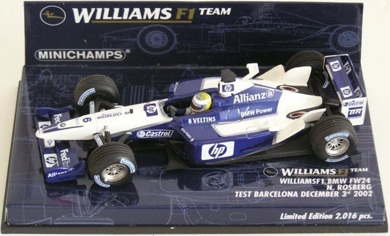 WOW estremamente raro Williams FW24 Rosberg Catalunya circuito 2002 1 43 Minichamps