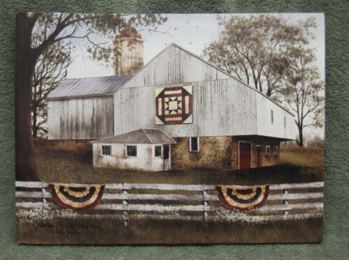 American Star Quilt Barn Red White Blue Farm Home Decor Canvas Billy Jacobs