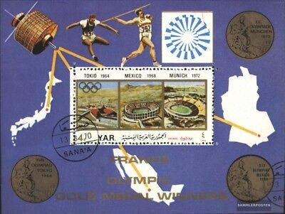 kompl.ausg. Hell Nordjemen Block181 Gestempelt 1972 25 Jahre Arabische Postunion Auf Der Ganzen Welt Verteilt Werden