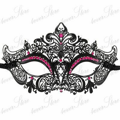 Luxury Womens Laser Cut Venetian Masquerade Mask - Made of Light Metal