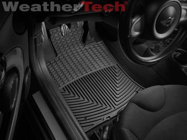 WeatherTech All-Weather Floor Mats - Mini Cooper / Cooper S - 2007-2011 - Black