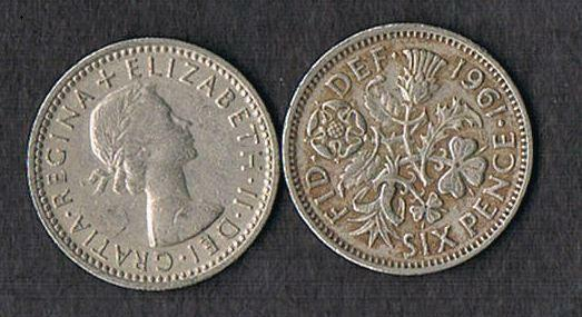 LOT OF 30 1953 to 1967 British Wedding Q E Lucky Sixpence