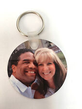 "Custom Design Personalized Photo 2"" Aluminum Key Ring - Great VALENTINES GIFT"