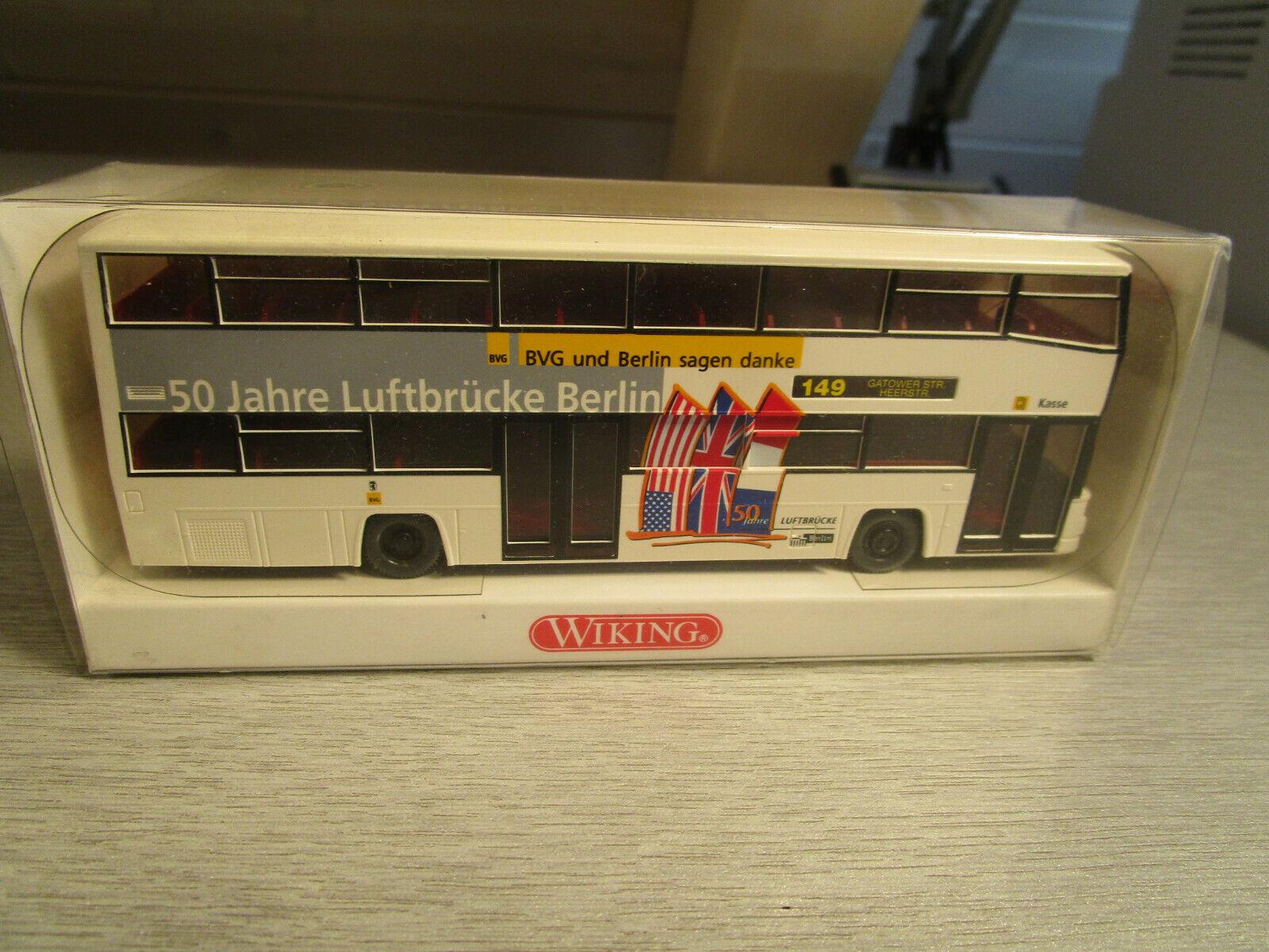 731 01 MAN D 89 Berliner Doppeldeckerbus Linie 148 OVP #3794 Wiking 1//87 Nr