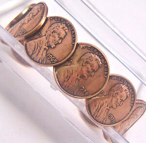 Copper-Bracelet-by-Wheeler-Lincoln-Head-Penny-Healing-Arthritis-Sciatica-cb-092