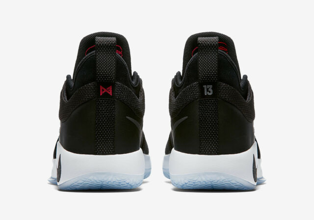 9a30452945d2 Nike PG 2 Taurus Black Solar Red Ice Paul George GS 6y Youth Basketball  Shoes for sale online