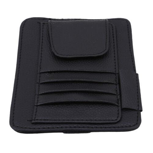 Car Sunshade Visor Sunglass Holder Pocket Card Organizer Pouch Storage Clip LD