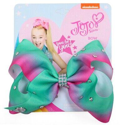 "pink green JoJo Bow 3 yards JoJo Siwa inspired 3/"" inch grosgrain Ribbon"