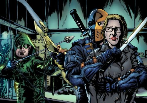 ARROW limited edition A3 DEATHSTROKE A4 print B2 poster AUTOGRAPHED