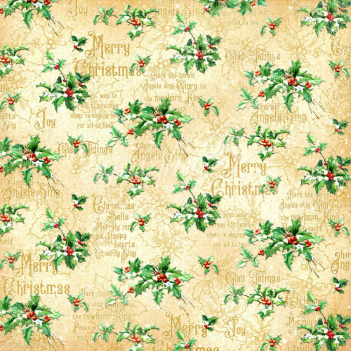 Graphic45 HEAVENLY CHOIR 12x12 Dbl-Sided Scrapbook Paper CHRISTMAS ANGELS 2pc
