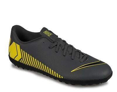 Scarpe da calcetto uomo NIKE Mercurial Vapor 12 club tf grigio giallo AH7386 070 | eBay