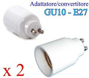 Faretti Led E27.Dettagli Su Adattatore Convertitore Da Gu10 A E27 Lampade Faretti Led Gu10 E27 2 Pezzi