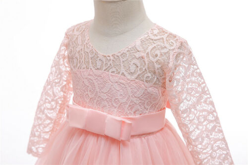Flower Girl Dress Princess Party Wedding Bridesmaid Formal Gown Kid Long Dresses